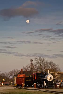 Caboose Photograph - Moon Over Engine 509 by Douglas Barnett