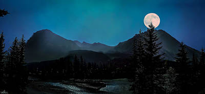 Photograph - Moon Over Field Bc by Phil Rispin