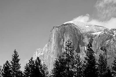 Moon Over Half Dome Art Print