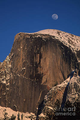 Photograph - Moon Over Half Dome by Stan and Anne Foster