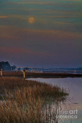 Painting - Moon Over Hilton Head by Deborah Benoit