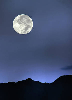 Moon Over Ko'olau Art Print