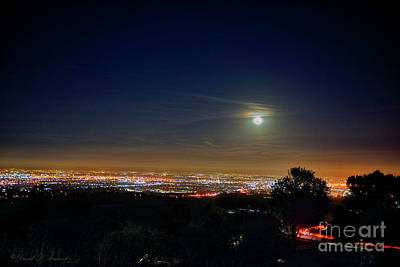 Photograph - Moon Over La Basin 2 by David Arment