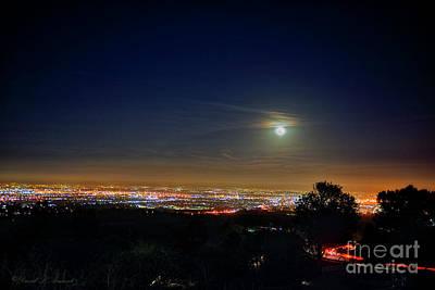 Photograph - Moon Over La Basin 2 by David Arment