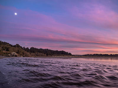 Photograph - Moon Over Little River At Dusk by Greg Nyquist