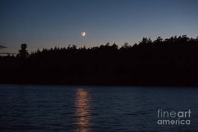 Photograph - Moon Over Long Lake 1 by Kevin McCarthy