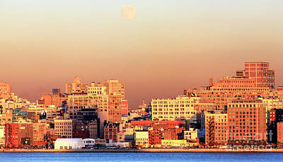Photograph - Moon Over Manhattan by John Rizzuto