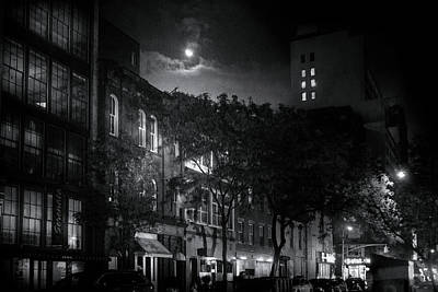 Photograph - Moon Over Manhattan by Mark Andrew Thomas