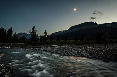 Photograph - Moon Over Montana by Margaret Pitcher