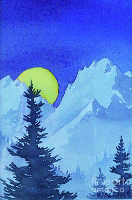 Painting - Moon Over Mountain by Teresa Ascone