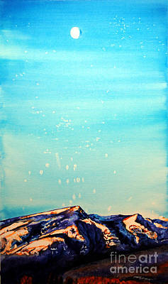Painting - Moon Over Mountain by Tracy Rose Moyers