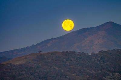 Mt. Diablo Photograph - Moon Over Mt Diablo by Marc Crumpler