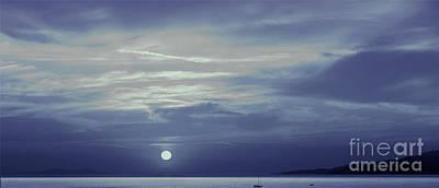 Moon Over Mykonos Art Print by Madeline Ellis