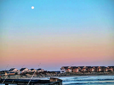 Photograph - Moon Over Nags Head by Ches Black