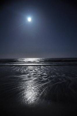 Moon Over Ocracoke Art Print by Jeff Moose