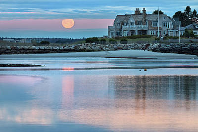 Photograph - Moon Over Pine Point by Ed Fletcher
