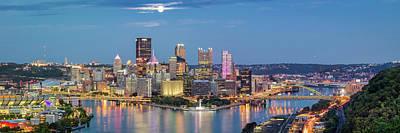 Photograph - Moon Over Pittsburgh  by Emmanuel Panagiotakis