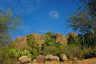Mark Myhaver Royalty Free Images - Moon Over Pusch Ridge op33 Royalty-Free Image by Mark Myhaver