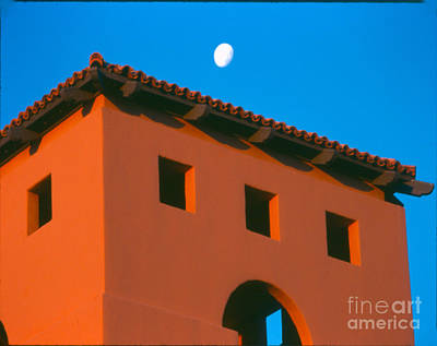 Photograph - Moon Over Red Adobe Horizontal by Heather Kirk
