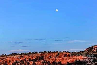 Photograph - Moon Over Rimrock by Jon Burch Photography