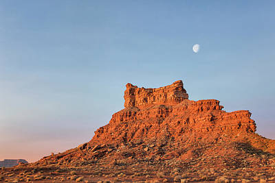 Photograph - Moon Over Rock Temple by Denise Bush