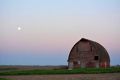 Photograph - Moon Over Royal Barn 2 by Bonfire Photography