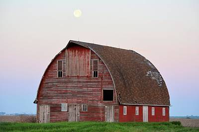 Photograph - Moon Over Royal Barn by Bonfire Photography