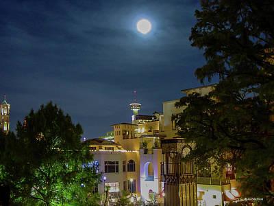 Moon Over San Antonio Art Print