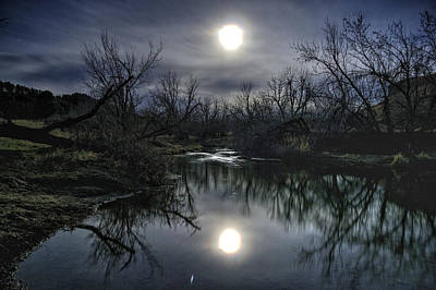 Moon Over Sand Creek Art Print