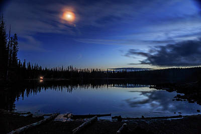 Photograph - Moon Over Sparks Lake by Cat Connor