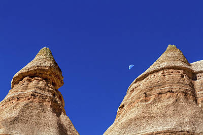 Photograph - Moon Over Tent Rocks - New Mexico #2 by Stuart Litoff