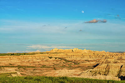 Photograph - Moon Over The Badlands by Andy Crawford