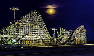 Photograph - Moon And The Coaster by Nick Zelinsky
