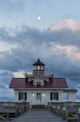 Photograph - Moon Over The Light by Gregg Southard