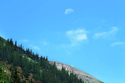 Photograph - Moon Over The Mountain by Mark Andrew Thomas