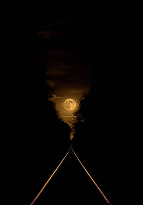 Photograph - Moon Over The Rails by Chris Harris