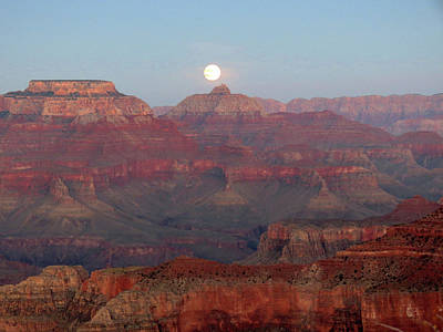 Photograph - Moon Over The Rim by Laurel Powell