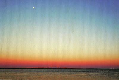 Moon Over The Skyway Art Print