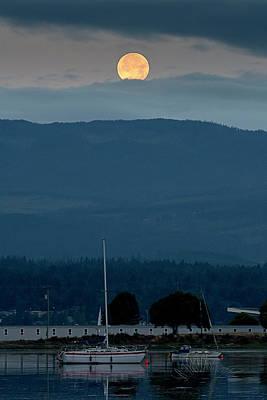 Photograph - Moon Over The Spit by Edward Kovalsky