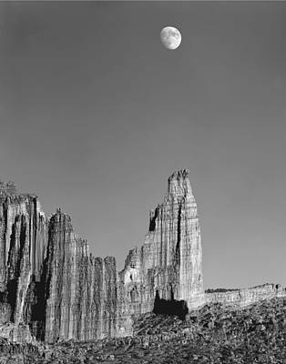 Photograph - 612751-moon Over The Titan  by Ed  Cooper Photography