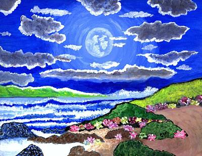 Moon Over The Tropics  Art Print