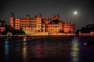 Moon Over Udaipur Art Print by Steve Harrington