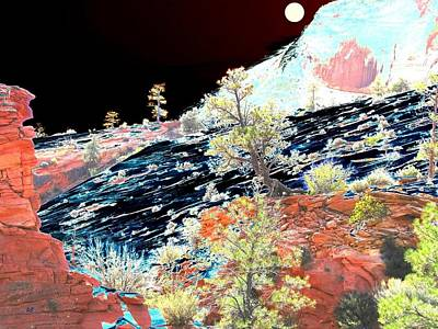 Digital Art - Moon Over Utah by Will Borden