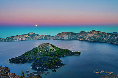 Photograph - Moon Over Wizard Island by Dan McGeorge
