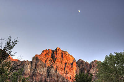 Photograph - Moon Over Zion by Scott Harris