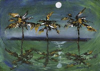 Painting - Moon Palms by Jamie Frier
