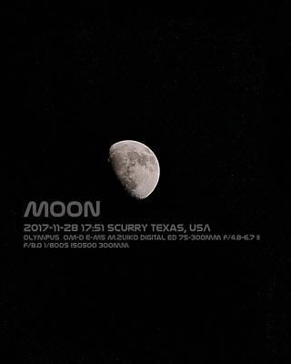 Photograph - Moon by Philip A Swiderski Jr