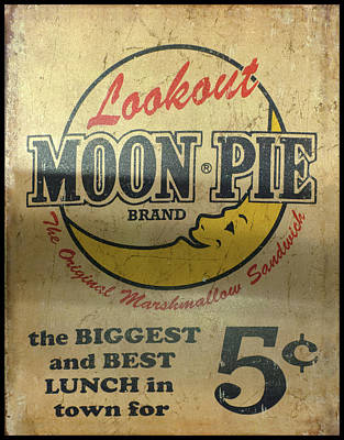 Photograph - Moon Pie Antique Sign by Chris Flees
