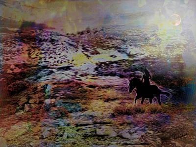 Digital Art - Moon Ride Memory I by Anastasia Savage Ealy