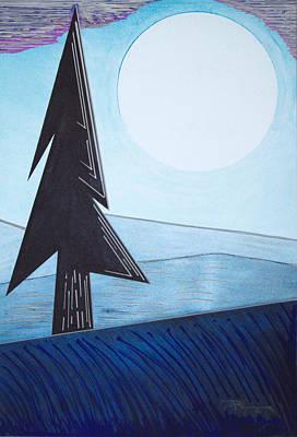 Mixed Media - Moon Rings B by J R Seymour